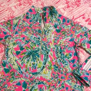Lilly Pulitzer Snapped Back Popover EUC